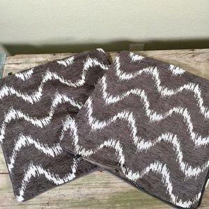 Rodeo Home pair pillow shams grey white chevron